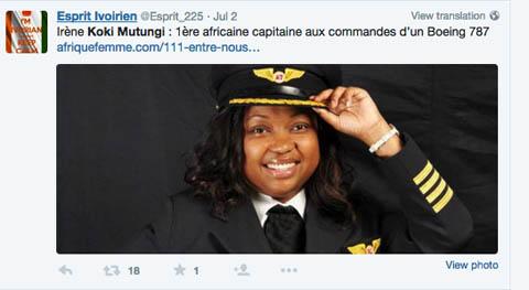 Air-Journal-Commandant de bord femme Koki Mutungi