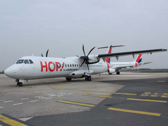air france des atr 72 600 pour hop air journal. Black Bedroom Furniture Sets. Home Design Ideas