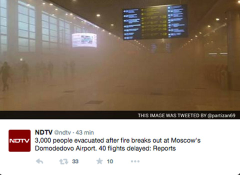 Air-journal-Incendie aeroport Domodedovo