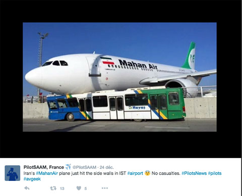 Air-journal-Mahan Air Istanbul bus Twit