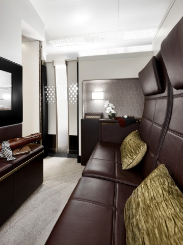 etihad residence une cabine de la taille d un studio air journal. Black Bedroom Furniture Sets. Home Design Ideas