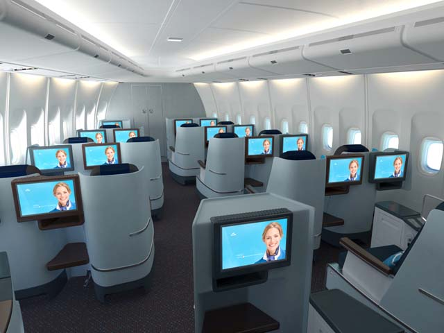 Klm d voile sa nouvelle classe affaire vid o air journal for Interieur boeing 777 300er air france