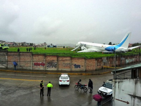 Air-journal-sortie de piste Cuenca Embraer 190 TAME