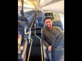 Air-journal-tout seul dans un avion