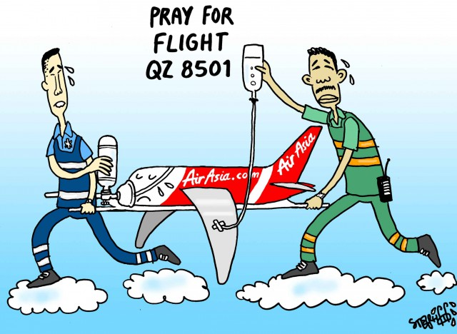 Pray for flight QZ 8501