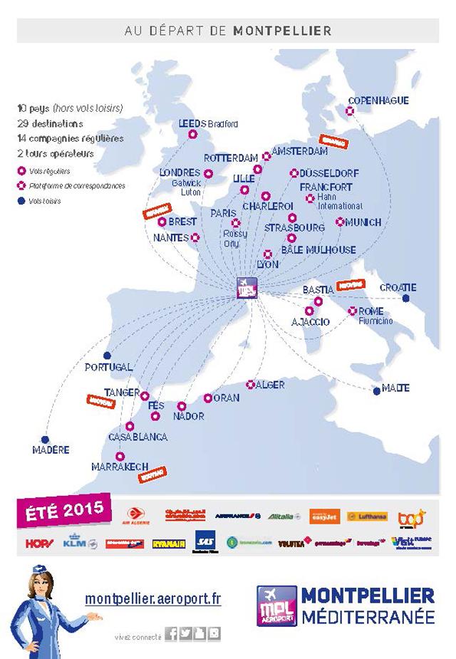 Programme ete 2015 Aéroport Montpellier Méditerranee Page 1 Aéroport Montpellier Méditerranée : un programme estival avec 5 nouvelle lignes