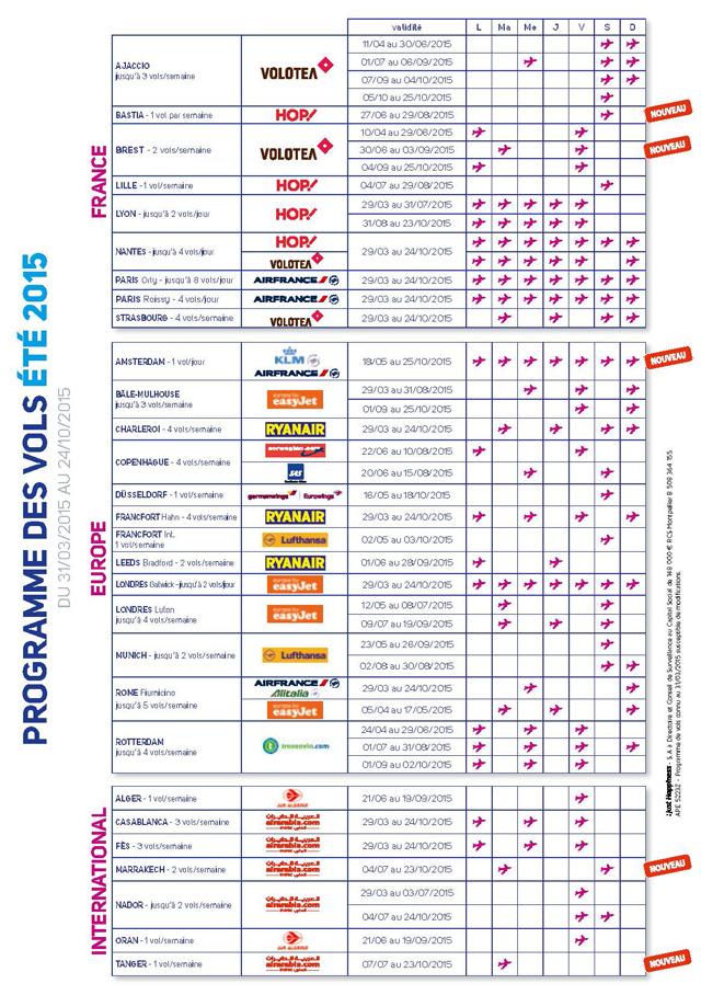 Programme ete 2015 Aéroport Montpellier Méditerranee Page 2 Aéroport Montpellier Méditerranée : un programme estival avec 5 nouvelle lignes
