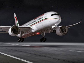 air-jouranl_Royal Air Maroc 787 takeoff nuit