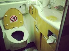 air-journal Passenger Shaming les toilettes