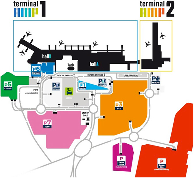 plan aéroport de strasbourg