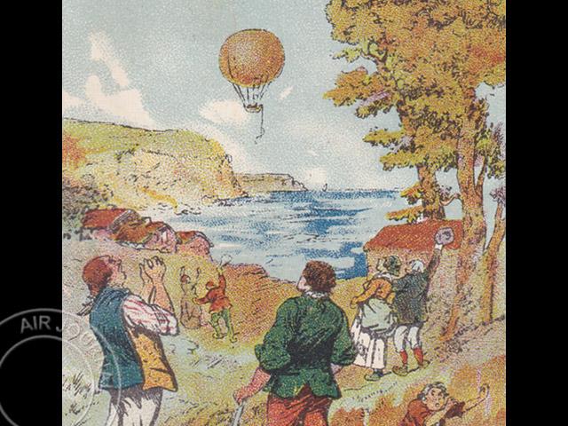 le 7 janvier 1785 dans le ciel blanchard traverse la manche par les airs avec jeffries air