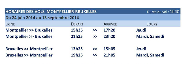 air journal bruxxels airlines montpellier Brussels Airlines : liaison Bruxelles Montpellier cet été