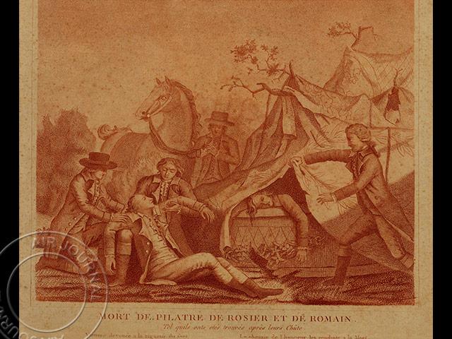 le 15 juin 1785 dans le ciel raid angleterre pilatre de rozier et ange