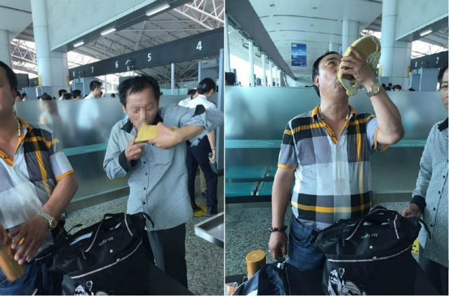 air-journal passagers chinois alcool