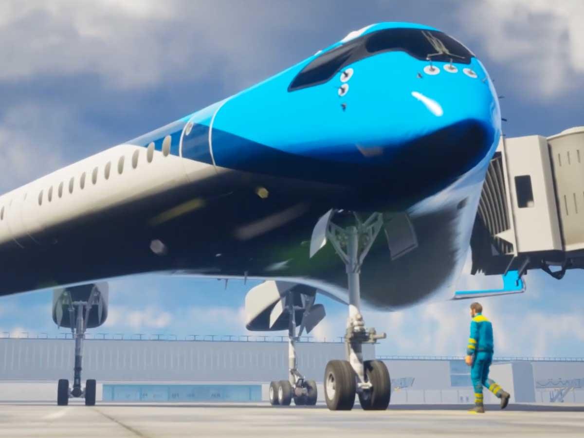"""Résultat de recherche d'images pour """"Flying-V KLM"""""""