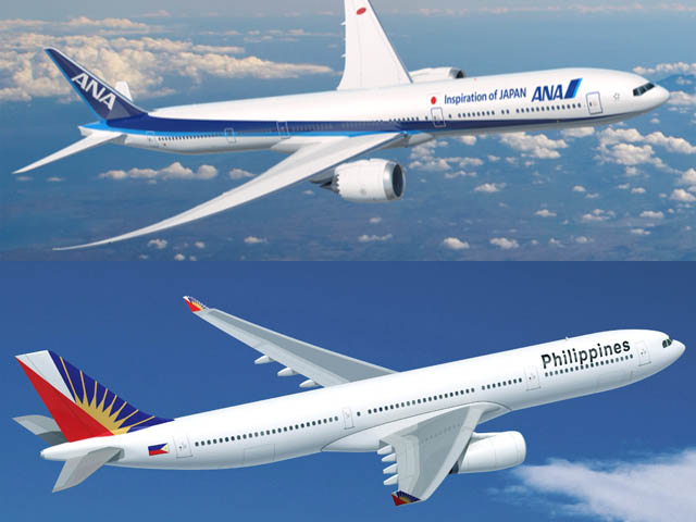 All nippon airways signe avec philippine airlines air for Vol interieur philippines
