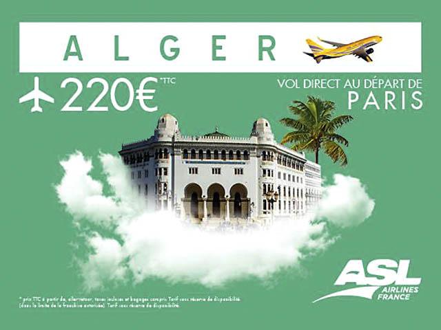 asl airlines france ouvre deux routes entre paris et l alg rie air journal. Black Bedroom Furniture Sets. Home Design Ideas