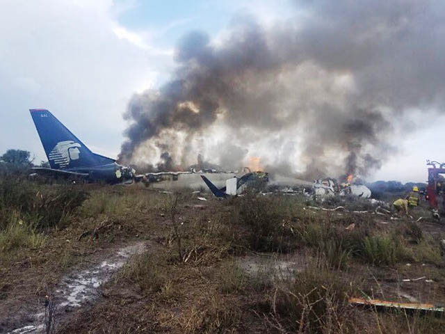 Aeromexico Crash Only Two Serious Injuries Videos