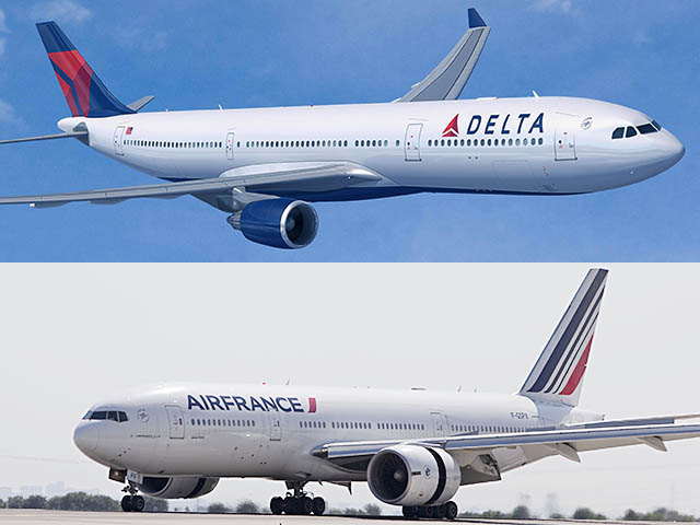 delta air lines partage avec air france orly air journal. Black Bedroom Furniture Sets. Home Design Ideas