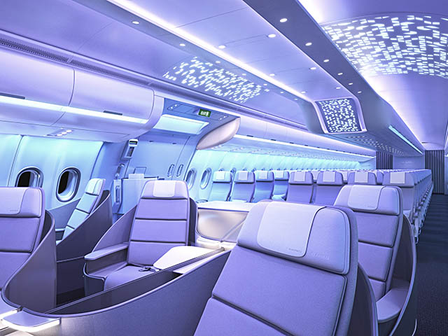 Airbus lance les cabines airspace et a330neo vid os for International seating and decor