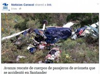 air-journal_Alas de Colombia crash Colombie©Noticias Caracol