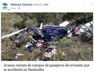 air-journal_Alas de Colombia crash Colombie©Noticias Caracol