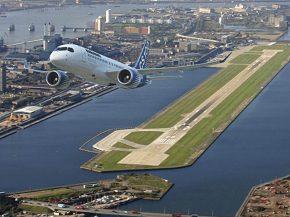 air-journal_Bombardier CS100 Londres City aeroport