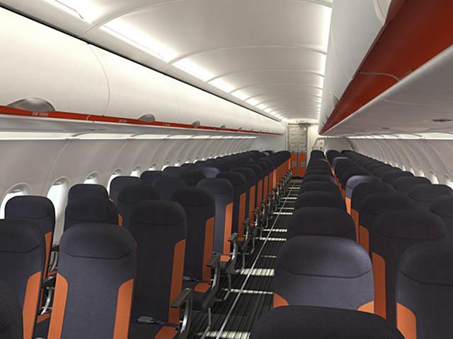 Premier airbus a320 de 186 places pour easyjet air journal for Interieur avion easyjet
