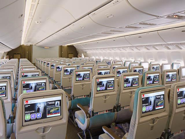 Emirates airlines pr sente les nouvelles cabines de 777 for Interieur boeing 777