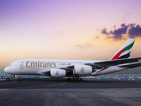air-journal_Emirates Airlines A380 sunrise