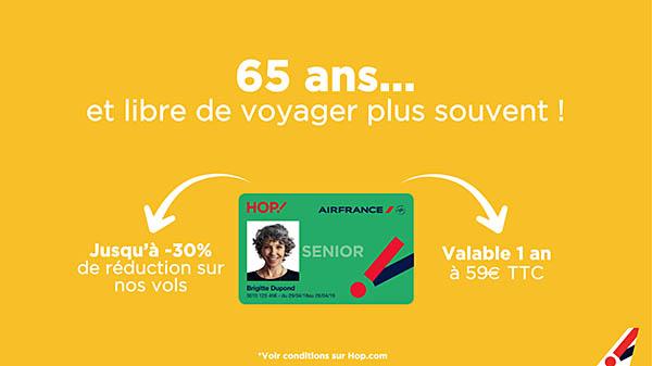 air france carte senior HOP! Air France : une carte pour les jeunes de plus de 65 ans
