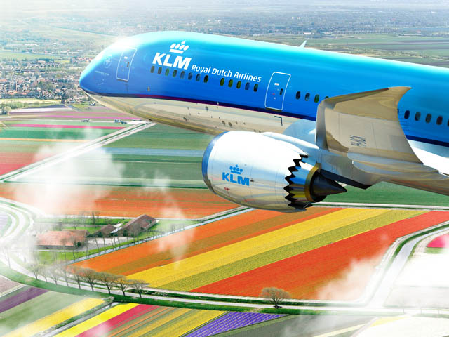 air-journal_KLM 787-9 tulipes