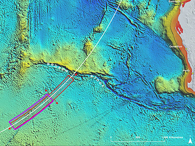 air-journal_MH370 Malaysia Airlines recherches map2016@ATSB
