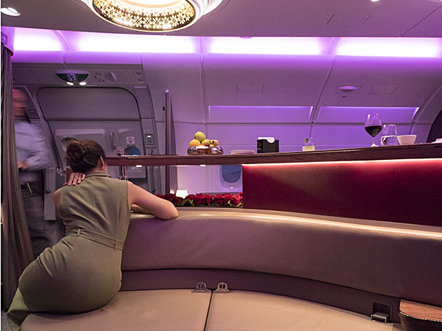 Reportage a380 de qatar airways en classe affaires air for Salon qatar cdg