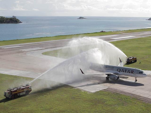 Qatar airways retour aux seychelles a380 melbourne for Interieur qatar airways