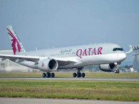 air-journal_Qatar Airways A350 landing FRA