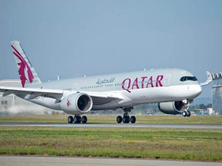air-journal_Qatar Airways A350 landing FRA