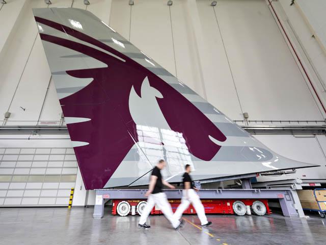 L airbus a380 de qatar airways prend forme air journal for Interieur qatar airways