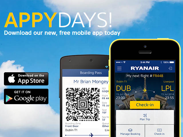ryanair met jour son application smartphone air journal. Black Bedroom Furniture Sets. Home Design Ideas