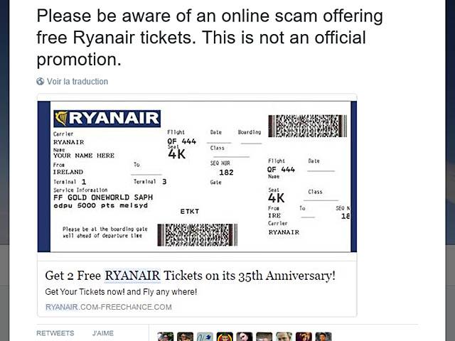Ryanair Victime D Une Arnaque En Ligne Air Journal