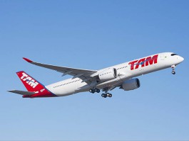 air-journal_TAM Brazilian A350-900 premier vol