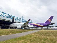 air-journal_Thai Airways A350-900 hangar