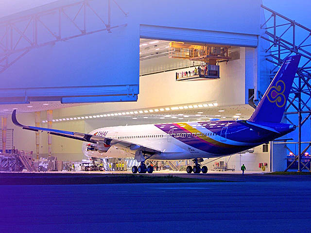 air-journal_Thai Airways A350-900 hangar dos