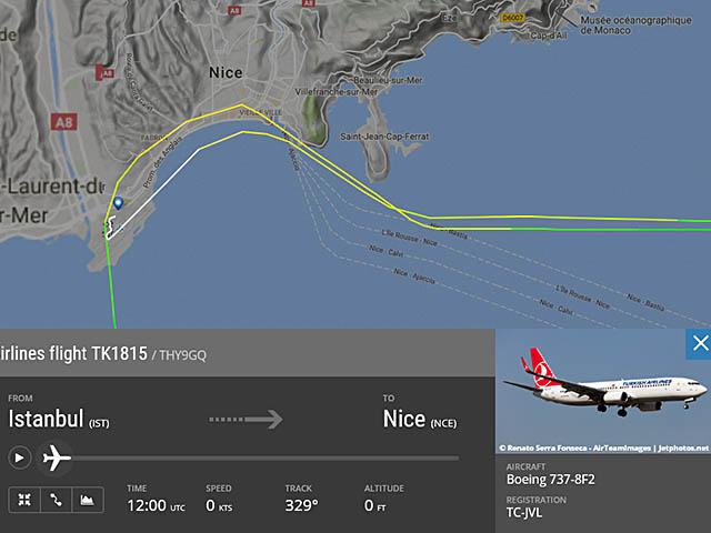 air-journal_Turkish Airlines Nice@Flightradar24