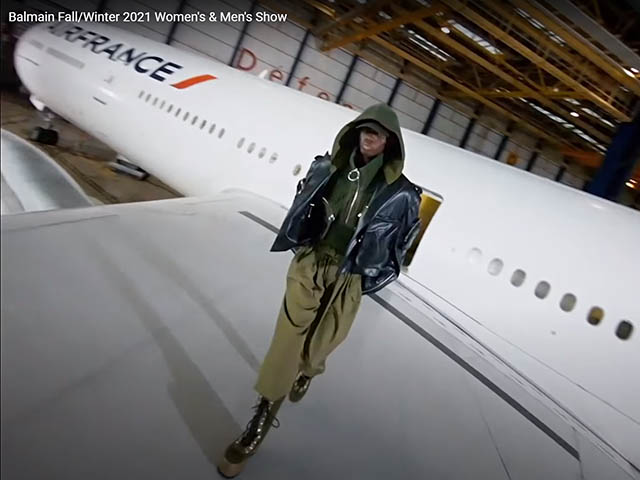 Balmain parade for Air France (video) 1 Air Journal