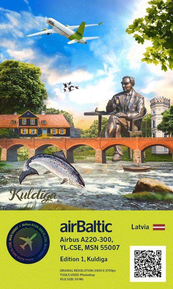 Crypto airBaltic : NFT, Kuldiga et A220 1 Air Journal