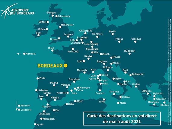 Bordeaux cet été : 74 destinations dont onze en France 1 Air Journal