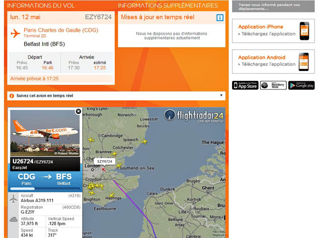 easyjet suit ses vols en direct avec flightradar24 air journal. Black Bedroom Furniture Sets. Home Design Ideas