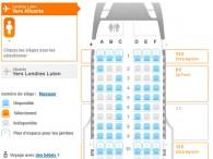 Allocation des si ges air journal for Interieur avion easyjet