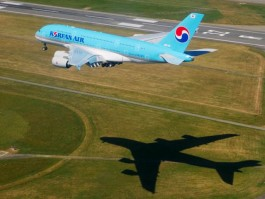 aj_Korean Air A380 arrive